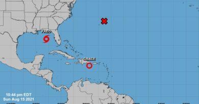 Grace se degrada a depresión tropical pero provoca lluvias en R. Dominicana