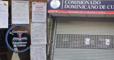 Autoridades de Nueva York cierran la sede del Comisionado de Cultura de RD